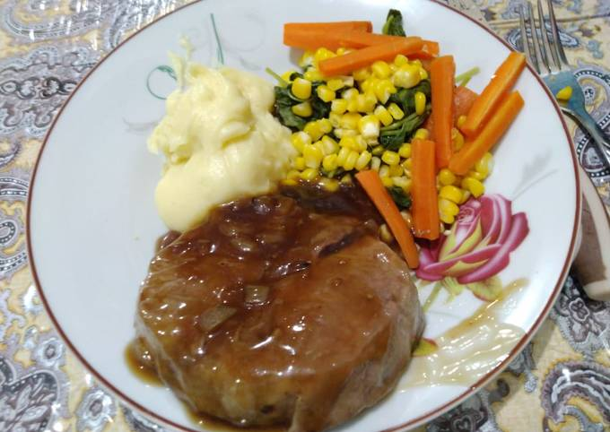 Wagyu Steak with mashed potato