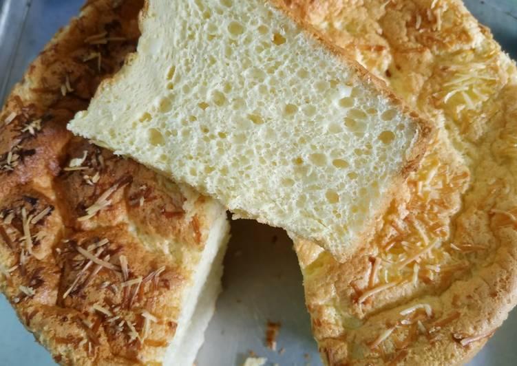 cara mengolah Cheddar Cheese Chiffon Cake Oven Tangkring - Sajian Dapur Bunda