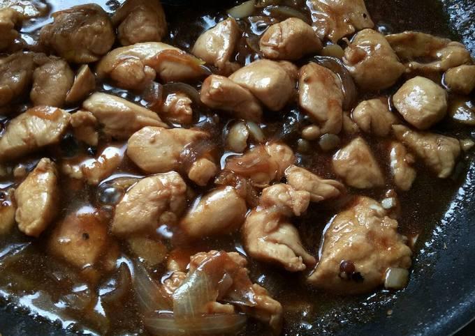 Resep Ayam Fillet Saus Lada Hitam yang Enak