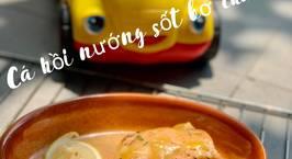 Hình ảnh món Cá hồi nuớng sốt bơ chanh