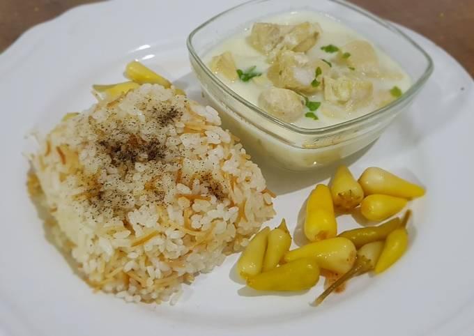Chicken Shakriyeh with rice