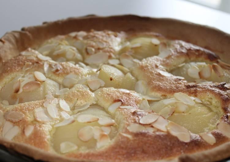 La Délicieuse Recette du Tarte Bourdaloue ou poires Amandine
