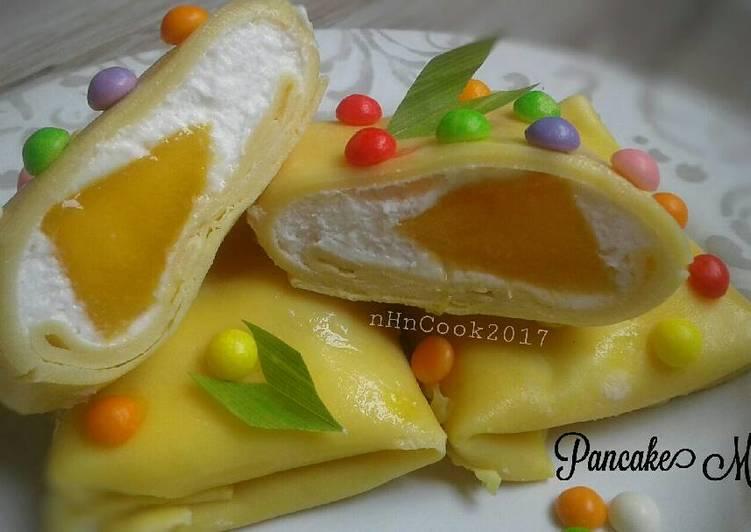 Pancake mangga(ENAK BANGET) #PANCAKEMANGGA