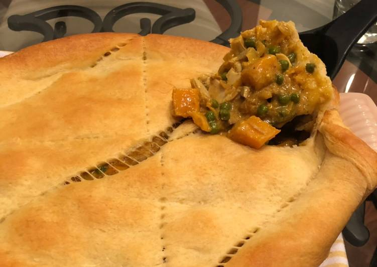 Sweet potato curry pie