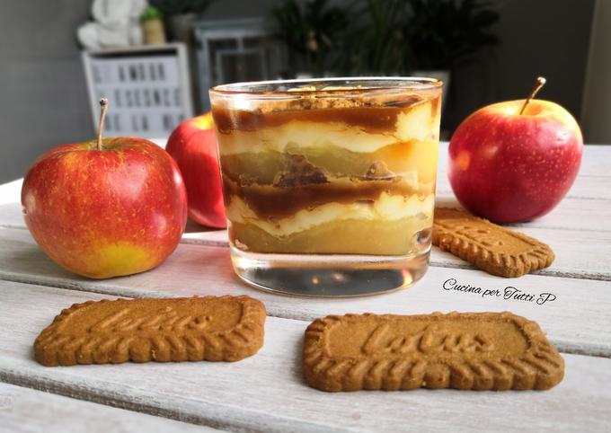 Tiramisu Spéculoos, pommes, caramel beurre salé