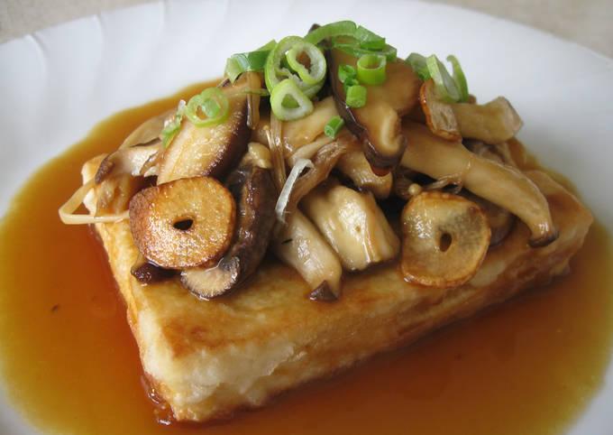 Pan Fried Tofu & Mushroom Sauces