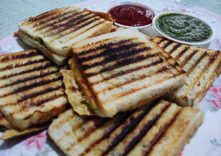 Easiest Way to Cook Appetizing Veg Sandwich