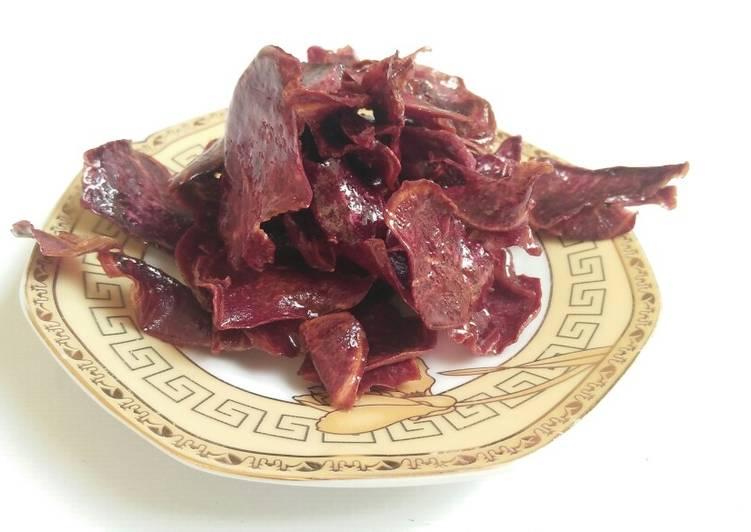 Keripik karamel ubi ungu