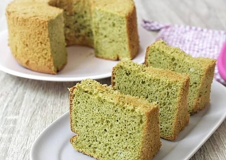 Moringa Chiffon Cake (Gluten Free)