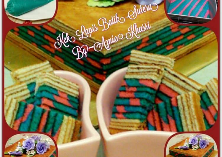 Resepi:  Kek Lapis Batik Sutera  2021