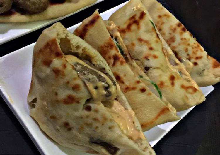 Recipe of Award-winning Beef kebab Pita pockets
