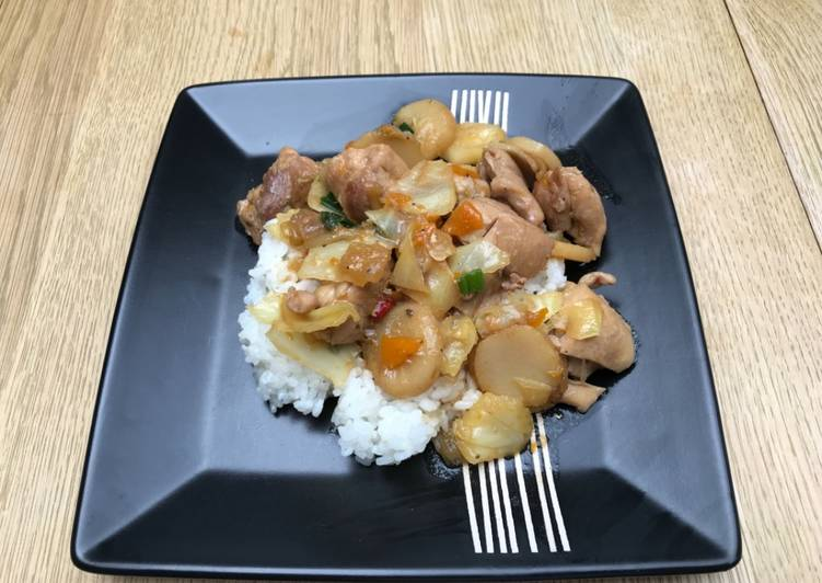 5 Best Practices Braised chicken with vegetables on rice