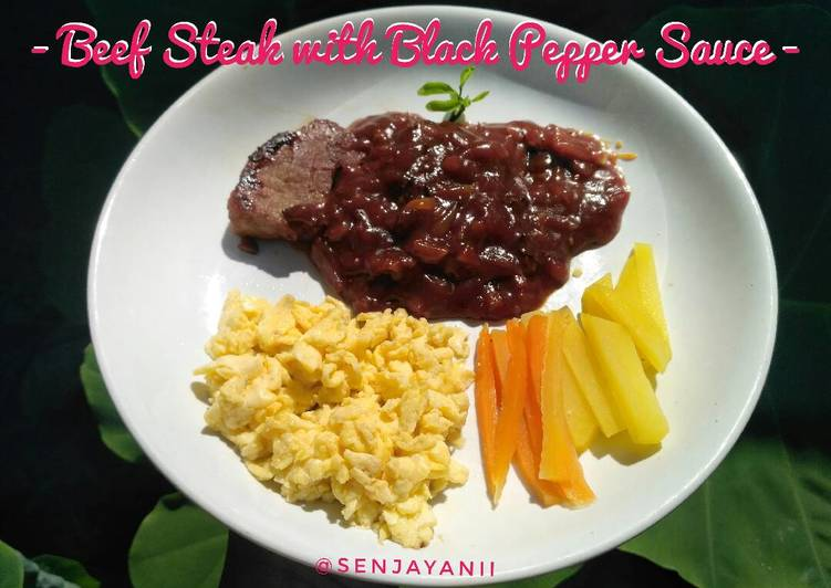 Beef Steak Black Pepper Sauce / Steak Sapi Saus Lada Hitam