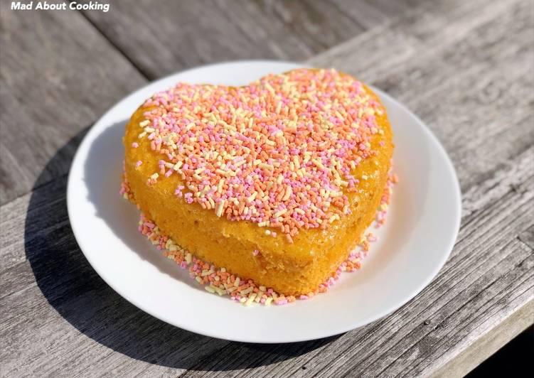 Recipe Yummy Summer Sunshine Tea Time Treat Custard Powder Cake Eggless Custard Cake