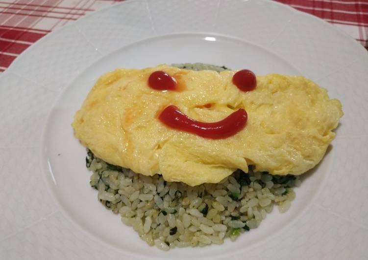 Resep Omurice Spinach Fried Rice (Omurice Nasi Goreng Bayam) Paling Top