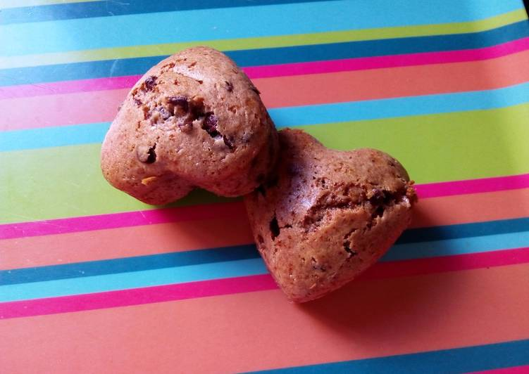 Petits gâteaux banane-noisette-chocolat (végétaliens)