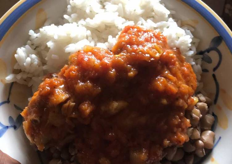Easy Comfort Dinner Ideas Winter Chicken Stew with Rice & Beans