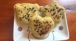 Hình ảnh món Ăn dặm - Bánh khoai lang phô mai mè đen