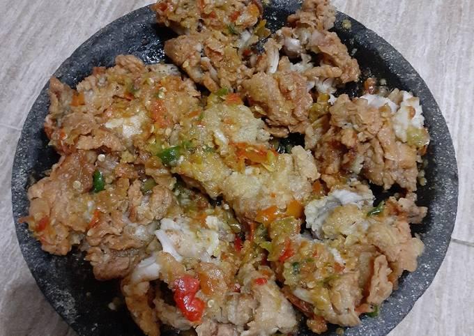 Resep Ayam geprek sambal bawang Sederhana Untuk Jualan