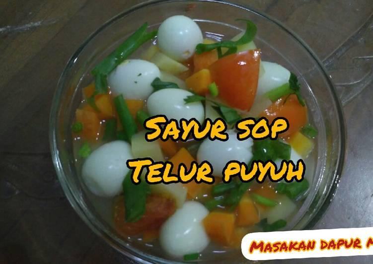 Sayur sop telur puyuh