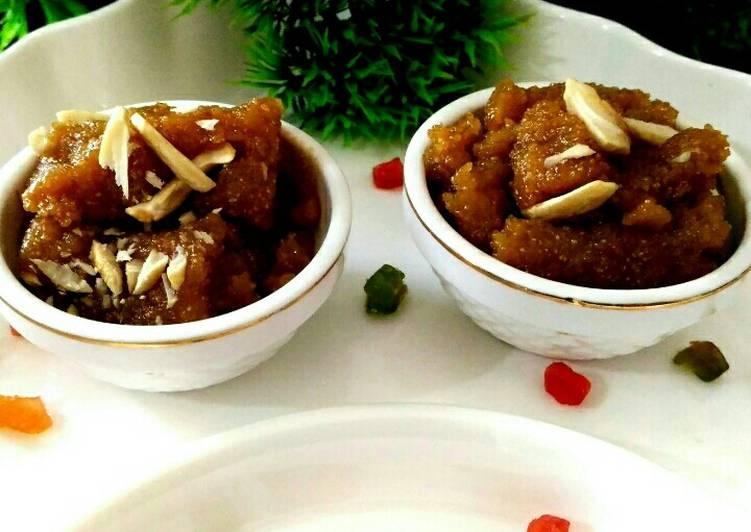 Recipe of Super Quick Homemade Apple and potato halwa
