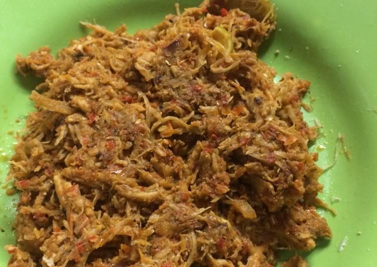 Resep Suwir dada ayam plecing pas untuk rendah kalori