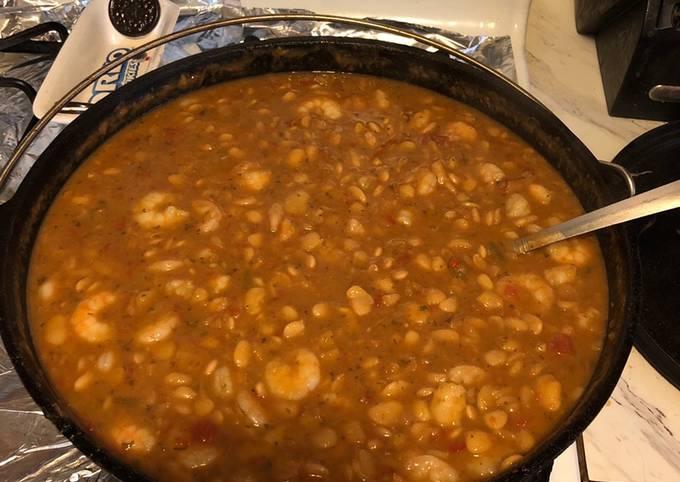 Cajun butter beans an shrimp