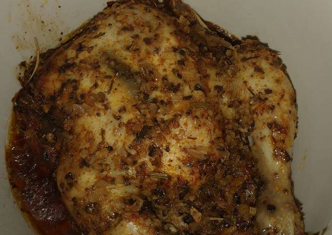 Roasted Chicken in Slow Cooker (Made by My Kids!)