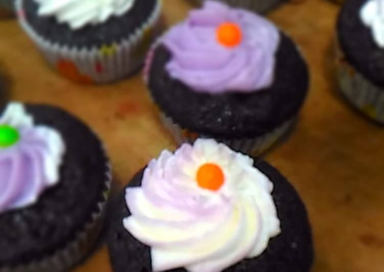 Eggless Choco Cup Cakes