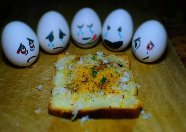 Easiest Way to Make Favorite Chessy Baked Egg Toast