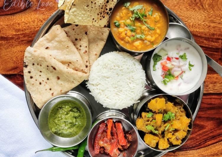 Easiest Recipe: Appetizing Simple veg thali