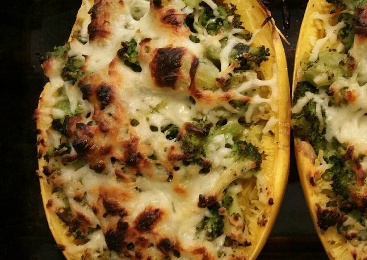 Easiest Way to Make Tasty Spaghetti Squash Lasagna with Broccolini