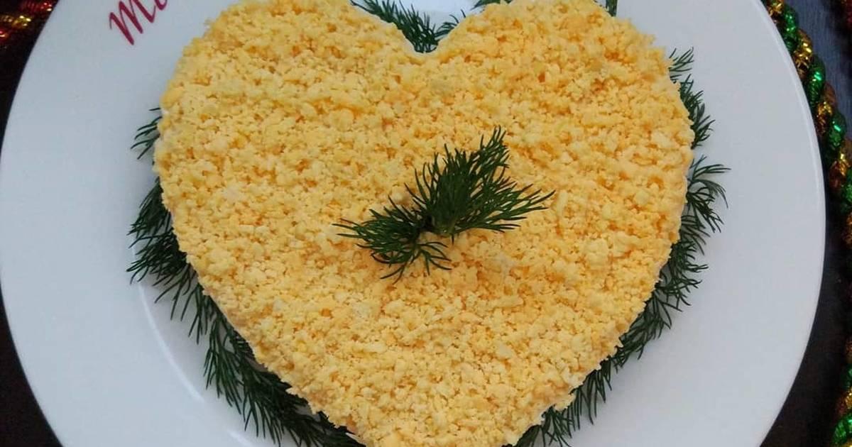 Салат в форме сердца рецепт с фото
