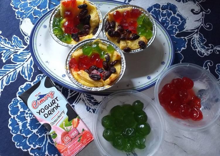 #5 Puding Roti Tutti Frutti Panggang🍞🍒