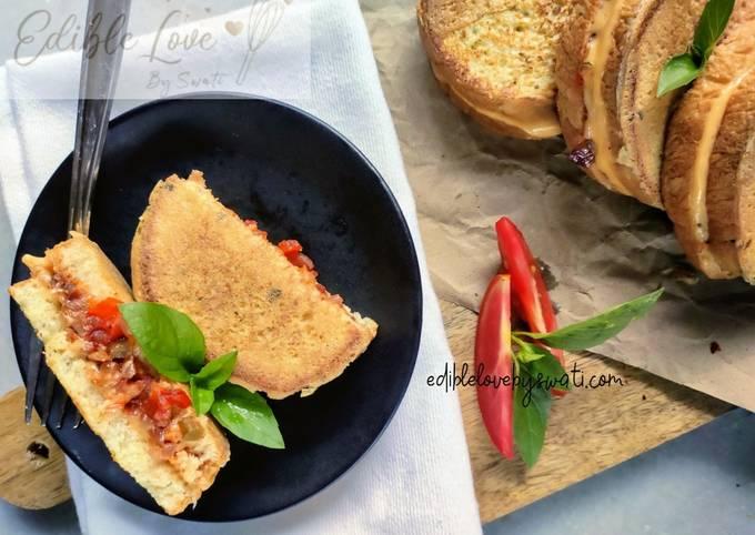 Recipe: Yummy Stuffed Pizza French Toast