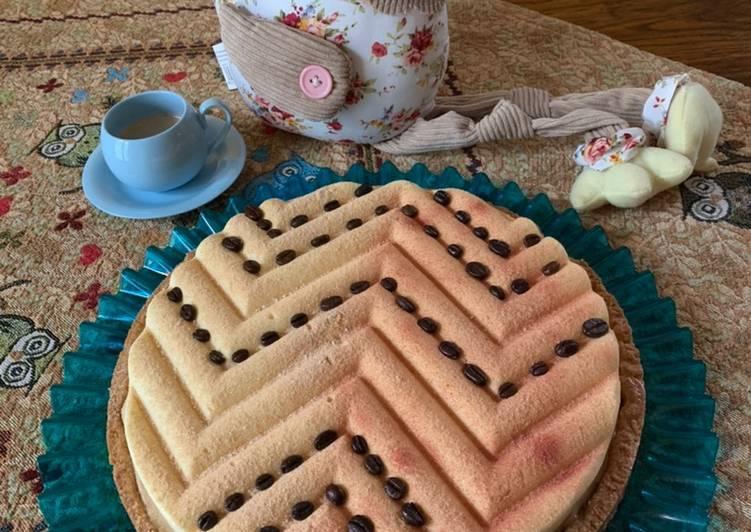 Ricetta ☕️Crostata frolla al caffè, namelaka alla nocciola e crema leggere alla vaniglia☕️