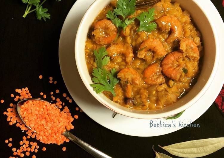Dal Chingri Lentil with Prawns Bengali Style