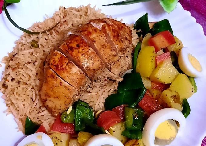 Spicy Chicken steak with veg