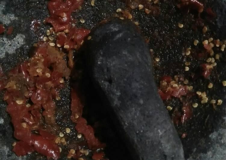 Cara Membuat Sambal ayam geprek, Bisa Manjain Lidah