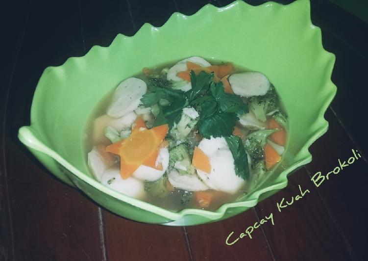 Resep Capcay Kuah Brokoli, Lezat