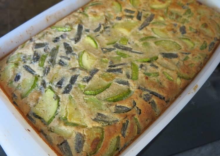 recette Clafoutis de courgettes délicieux