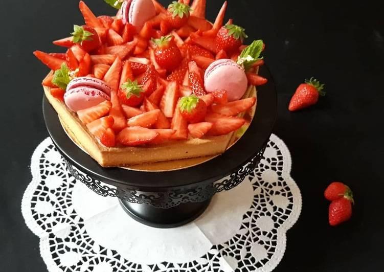 Comment Cuisiner Tarte aux fraises héxagonale