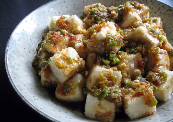 Fried Tofu With Spicy Garlic Sauce