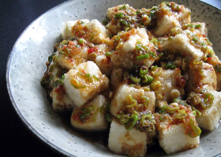 Steps to Make Speedy Fried Tofu With Spicy Garlic Sauce
