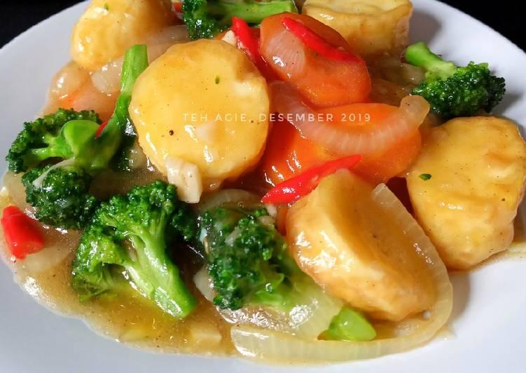 Tumis tahu brokoli wortel