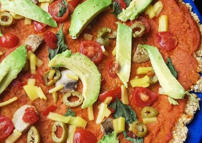 Cauliflower and Oat Gluten free Pizza