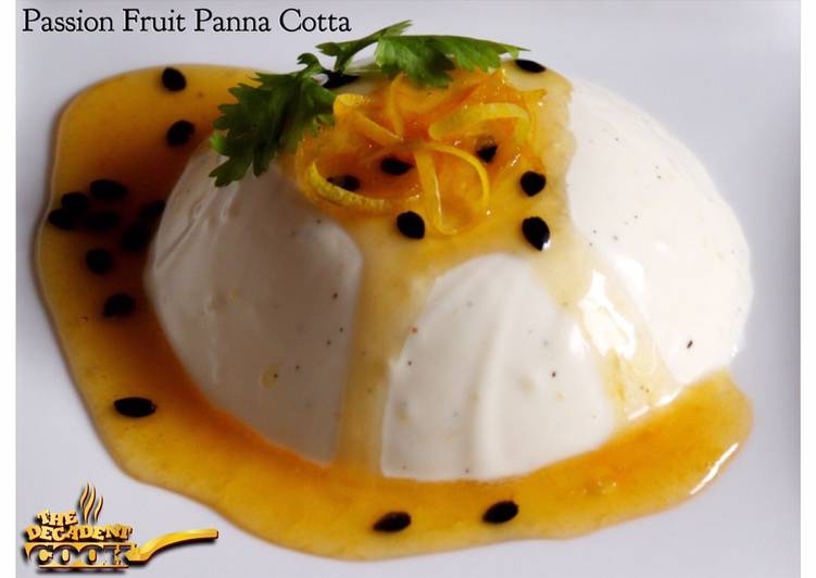Easiest Way to Make Homemade Passion fruit panna cotta