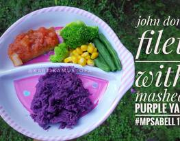 John Dory Fillet with Mashed Purple Yam - Ikan dori Ubi Ungu MPASI 1 tahun