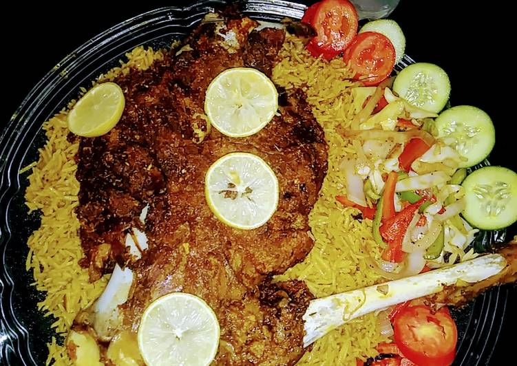 Selecting The Best Foods Can Help You Stay Fit And Healthy Mutton leg steam roast with special rice and veggies