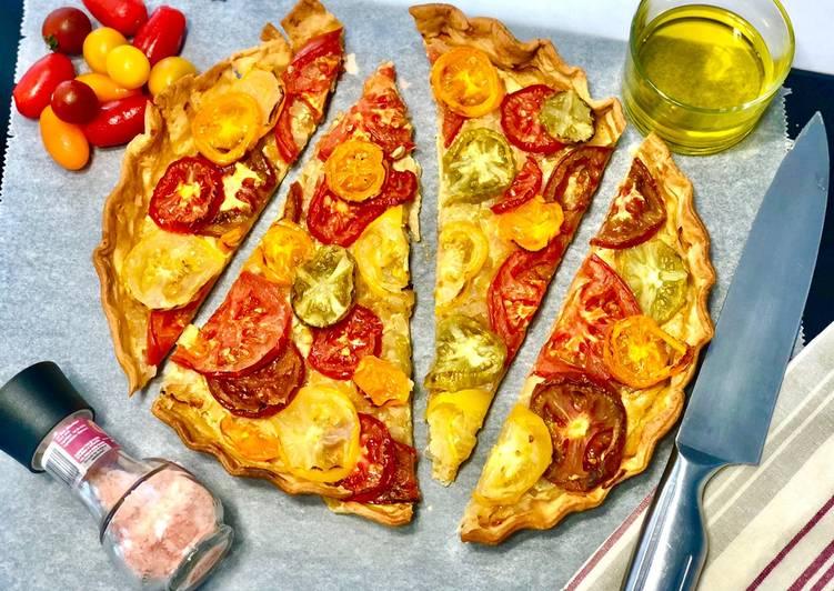 Les Meilleures Recettes de Tarte colorée aux tomates